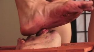 Cuck dirty foot cleaning