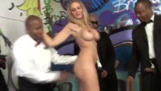 Busty White Slut Julia Ann Sucks Several Hard Black Cocks