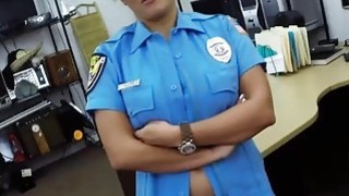 Hot police officer fucked in hardcore by a horny pawn guy