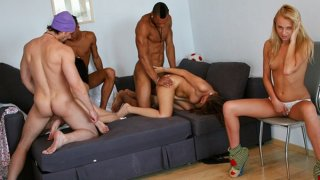 Cock-hungry college chicks have a blast