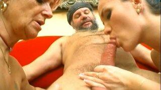 Cum addicted whore Christina Silvia enjoys having a hot threesome