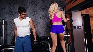 Hot Milf at the gym