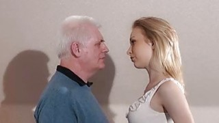 Old employer anal yses blonde at job interview