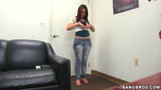 Hot sex interview with amateur teen babe Izzy Ryder