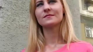 Tattooed blonde banged in public