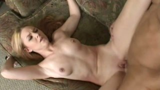 Too emotional red head Ginger Taylor gets poked on the sofa