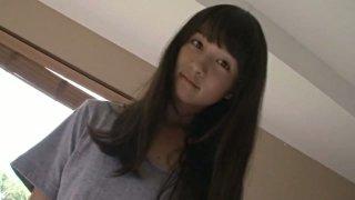Japanese sweet and hot girlie Okada Robin crawls on the bed