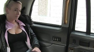 Busty Brit blonde amateur babe banged in a cab