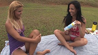 Brazilian lezdom fucking outdoors