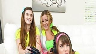 Video game women tell man to strip