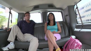 A hot ride in a bus with sexy girl Nina