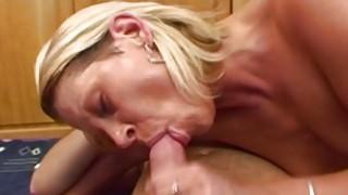 Blonde Stepmom Spreading For Her Horny Stepson