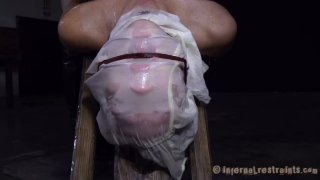 Skanky chick Rain DeGrey with filthy thoughts realizes her dreams in BDSM video