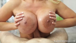 Alura Jenson manipulating using her boobs