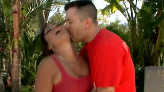 Dream girl Claudia Valentine gets horny and blows cock