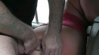 Chubby blond babe banged by fraud driver