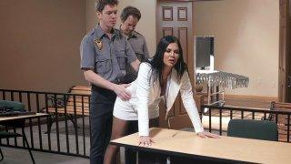 Cop Markus Dupree found the butt plug in Jasmine Jae's ass