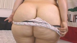 White sugar loaf Victoria Secret strips and sucks a hard prick