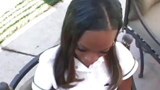 Creampie videos - Horny ebony teen creampied