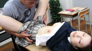 After school lessons with horny Japanese teen Runna Sakai