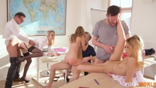 After class orgy with horny teens Tiffany Tatum, Rose & Rebecca Volpetti GP1383