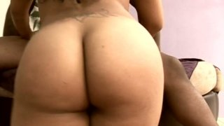 Torn Latino slut Millian Blu gets nailed hard by a strong black dick