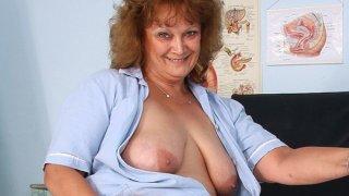 Fat old nurse mom gets naughty in gyn clinic