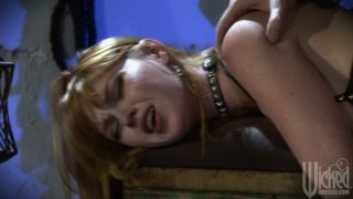 Filthy blonde cunt Marie McCray takes huge dick doggystyle