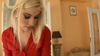 Tall blonde maiden Valentina Rossi seduces her bearded lover