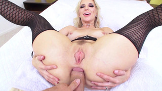 Ashley Fires's gaping sphincter is winking with pleasure