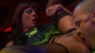 Wedding party turns into a blowjob with spoiled brunette Kirsten Price