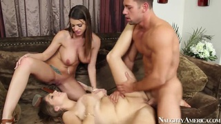 2 Chicks same time, Jonny has been working hard. Staring Alex Chance,Brooklyn Chase and Johnny Castle.