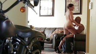 Brunette Mia Gold Bouncing On Huge Black Schlong