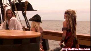 "Beautiful blonde pornstar Carmen Luvana in famous porn movie ""Pirates"""