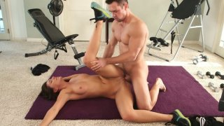 Straight haired chick Rilynn Rae loves riding a cock madly